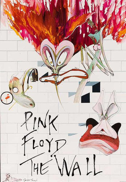 Pink Floyd The Wall Original NY Subway Advertising Poster