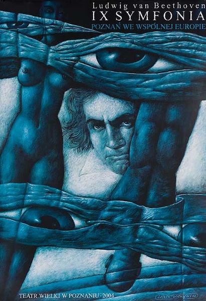 Beethoven's IX Symphony Original Polish Theatre Poster