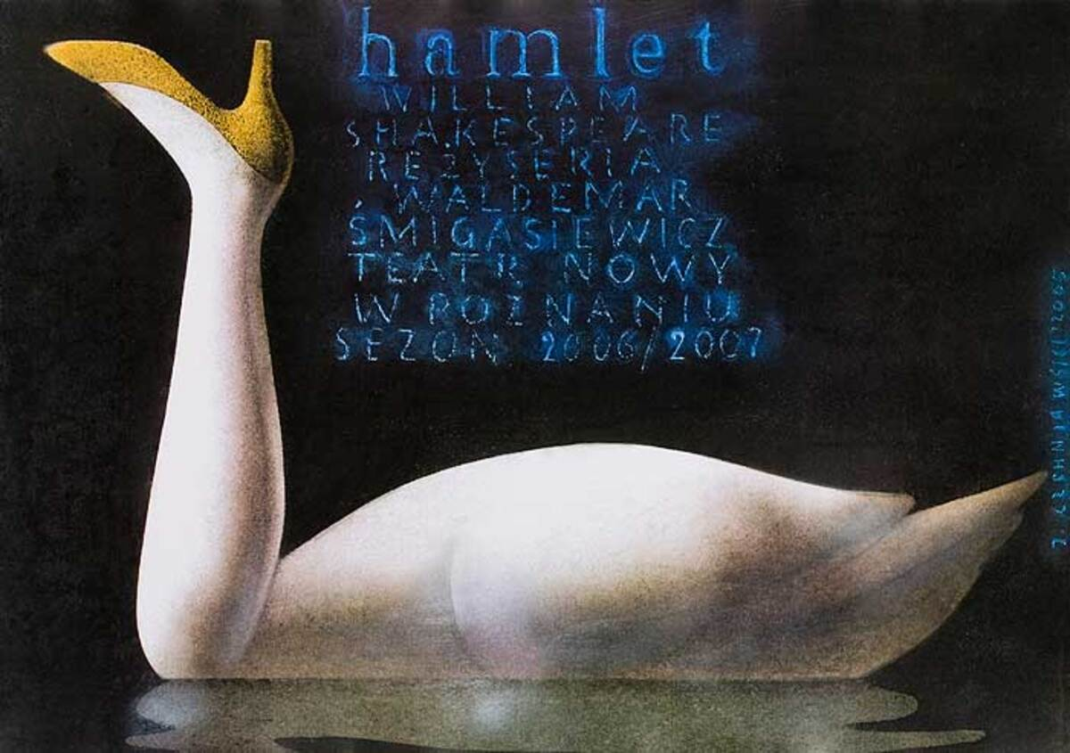 Shakespeare's Hamlet Original Polish Theatre Poster