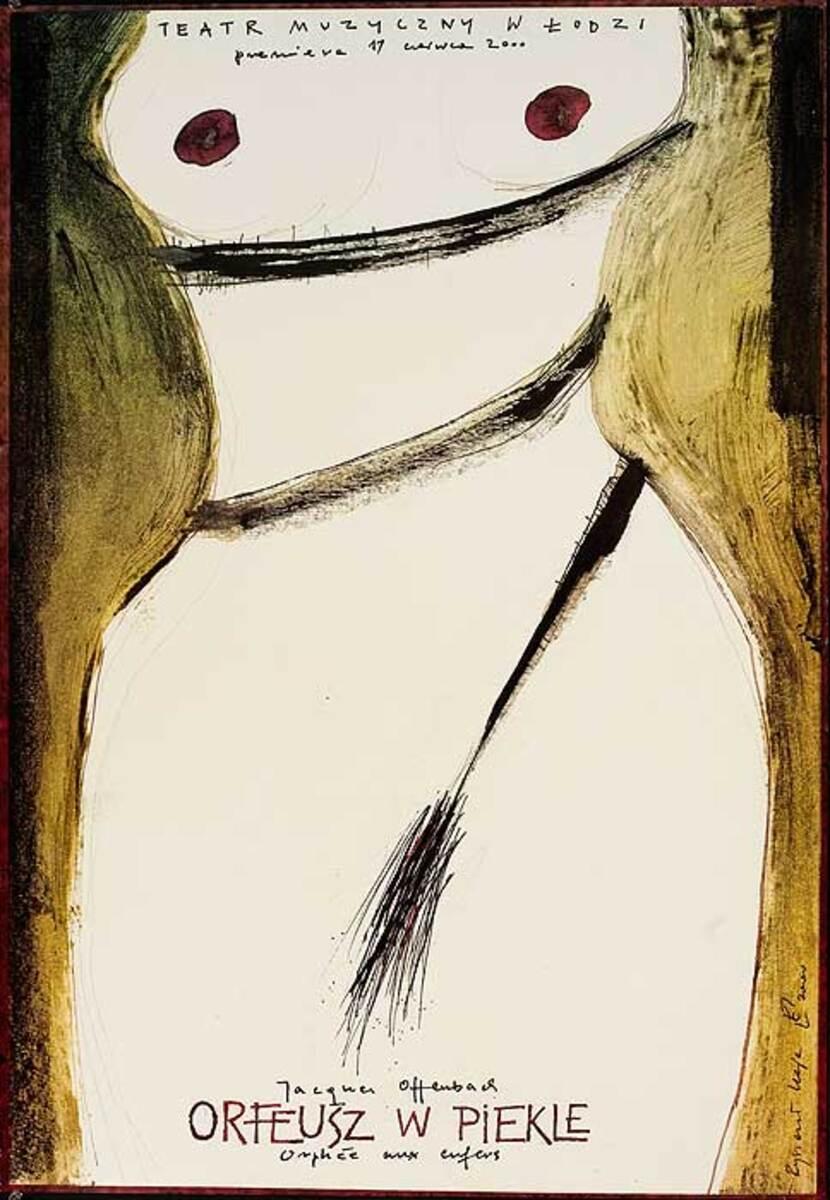 Orpheus in the Underworld Original Polish Operetta Poster