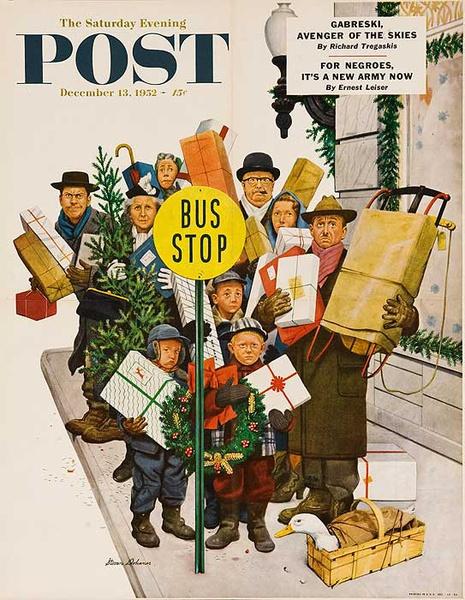 Saturday Evening Post Original Advertising Poster Dec 13, 1952