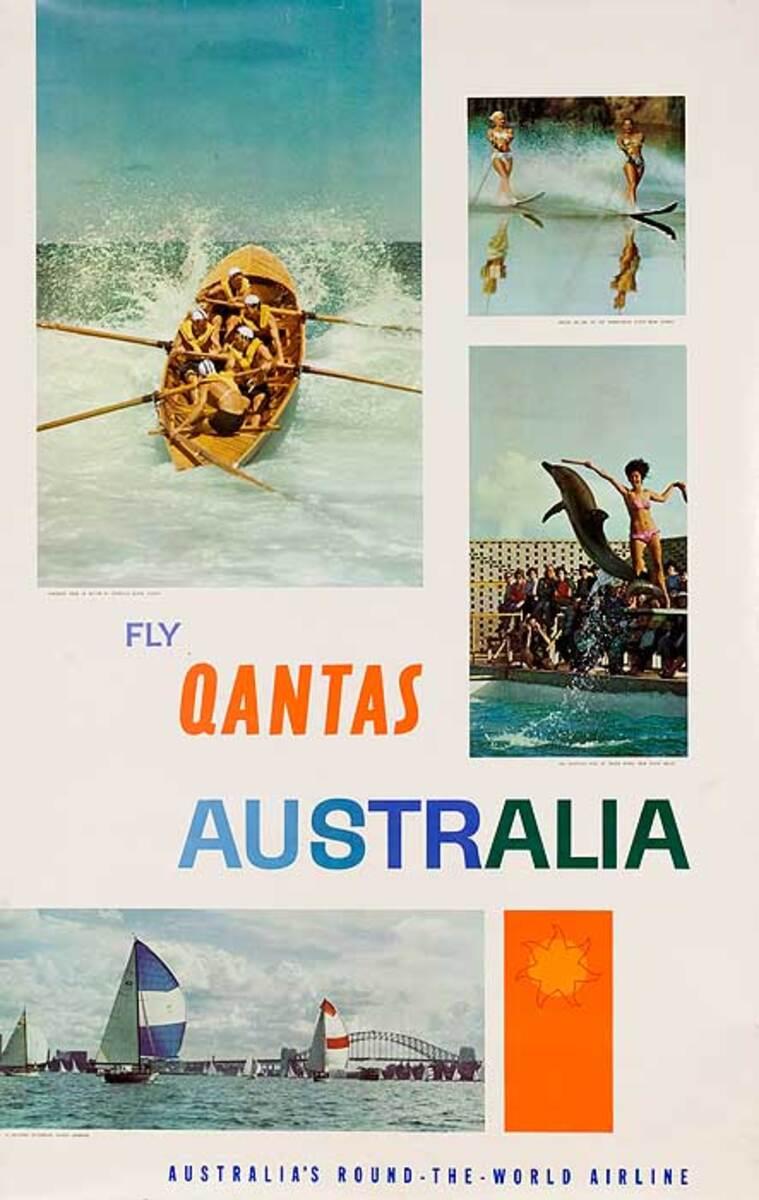 Fly Qantas to Australia Original Photo Montage Poster