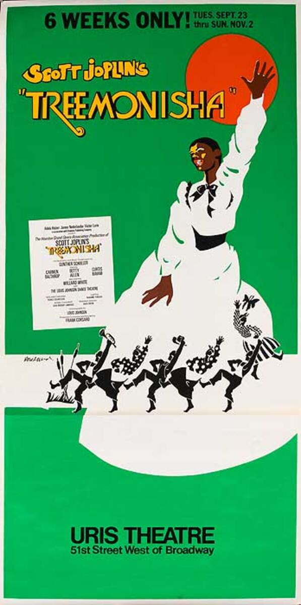 Original American Theater Poster Scott Joplin's Treemonisha