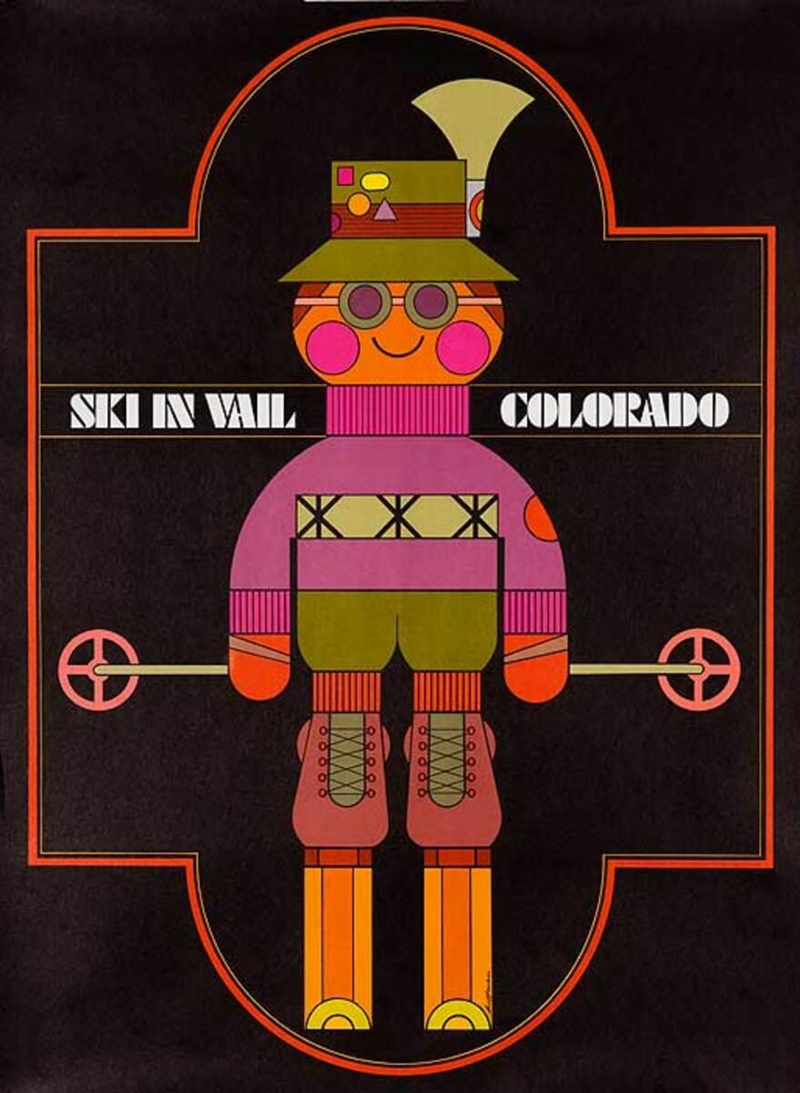 Ski in Vail Colorado Original American Travel Poster