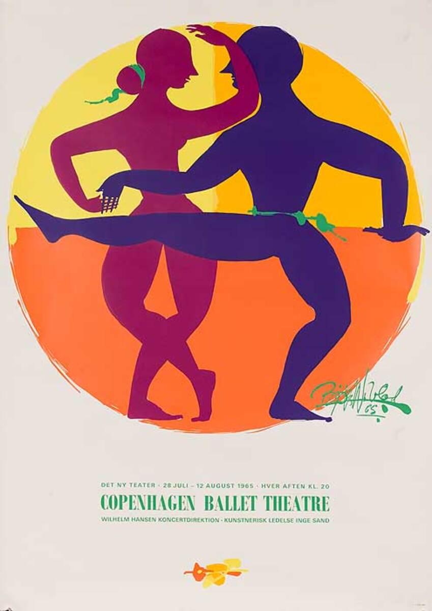 Copenhagen Ballet Theatre Original Dance Poster