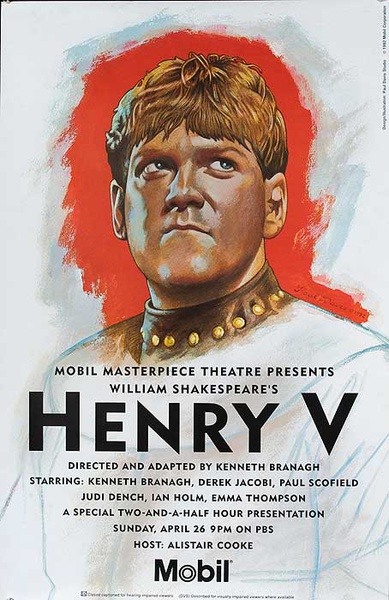 Henry V Mobil Masterpiece Theater TV Poster