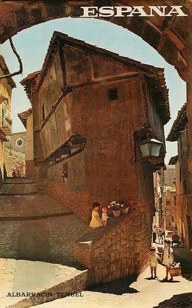 Albarrancin-Tereul Spain Original Travel Poster