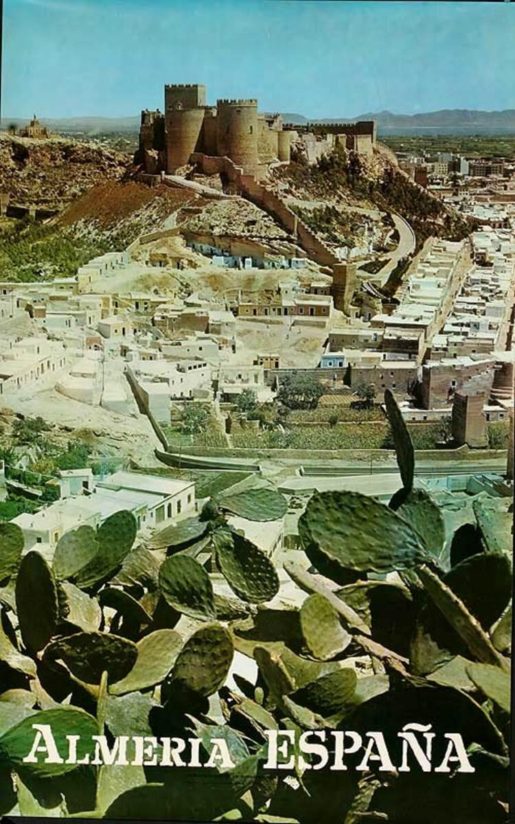 Almeria Spain Original Travel Poster Cactus