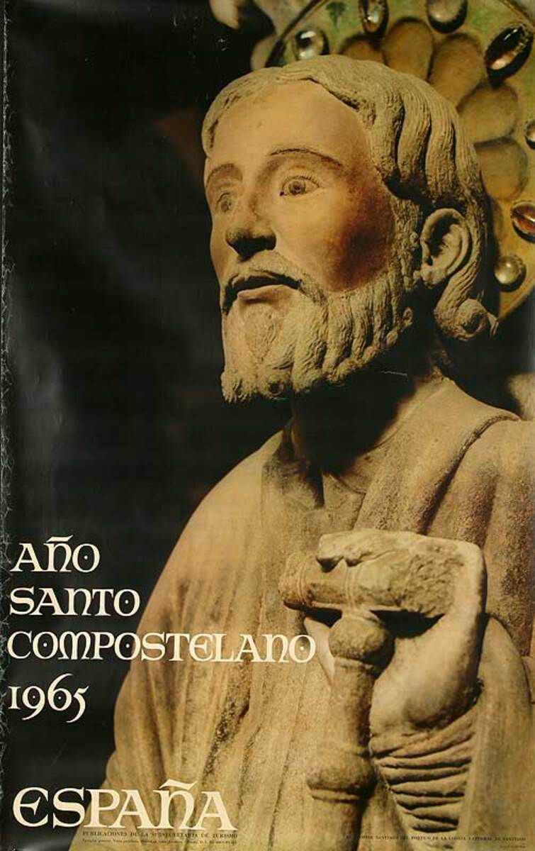 Ano Santo Compostelano Original Spanish Travel Poster