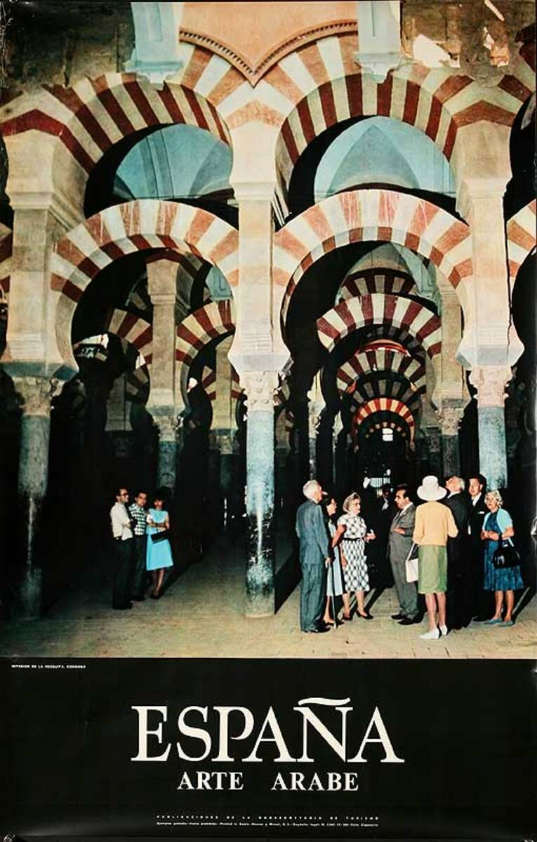 Arte Arabe Original Spanish Travel Poster Arab Art