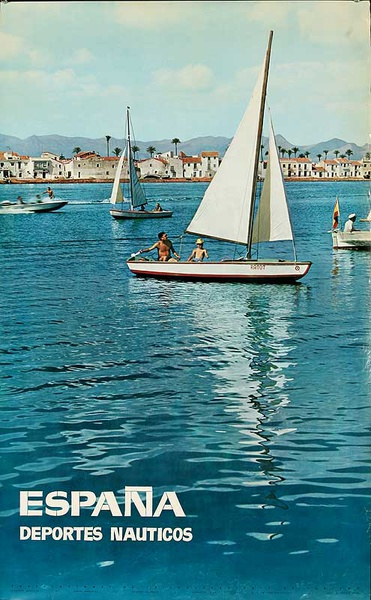 Espana Deportes Nauticos Original Spanish Travel Poster Water Sports