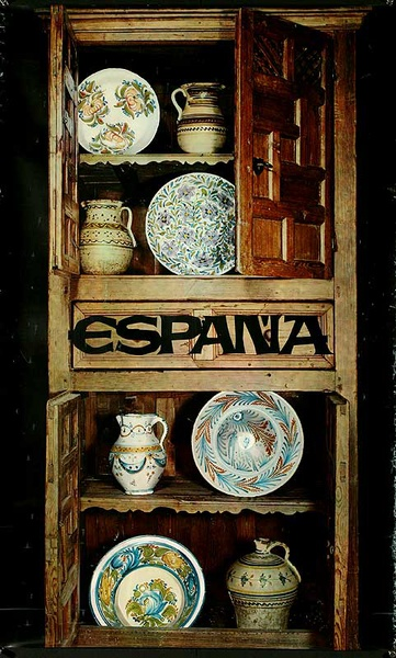 Espana Original Spanish Travel Poster Pottery