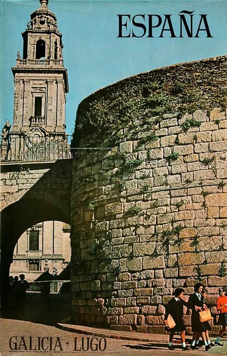 Galacia Luco Espana Original Spanish Travel Poster