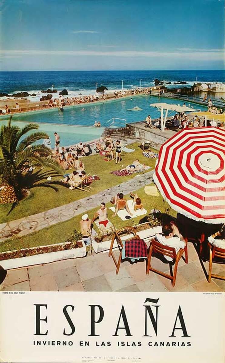 Espana Invierno en las Isla Canarias Original Spanish Travel Poster