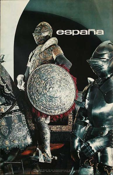 Espana Knight in Armor Original Spanish Travel Poster