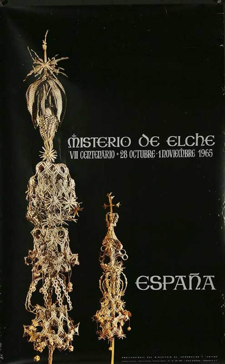Misterio de Eche Original Spanish Travel Poster
