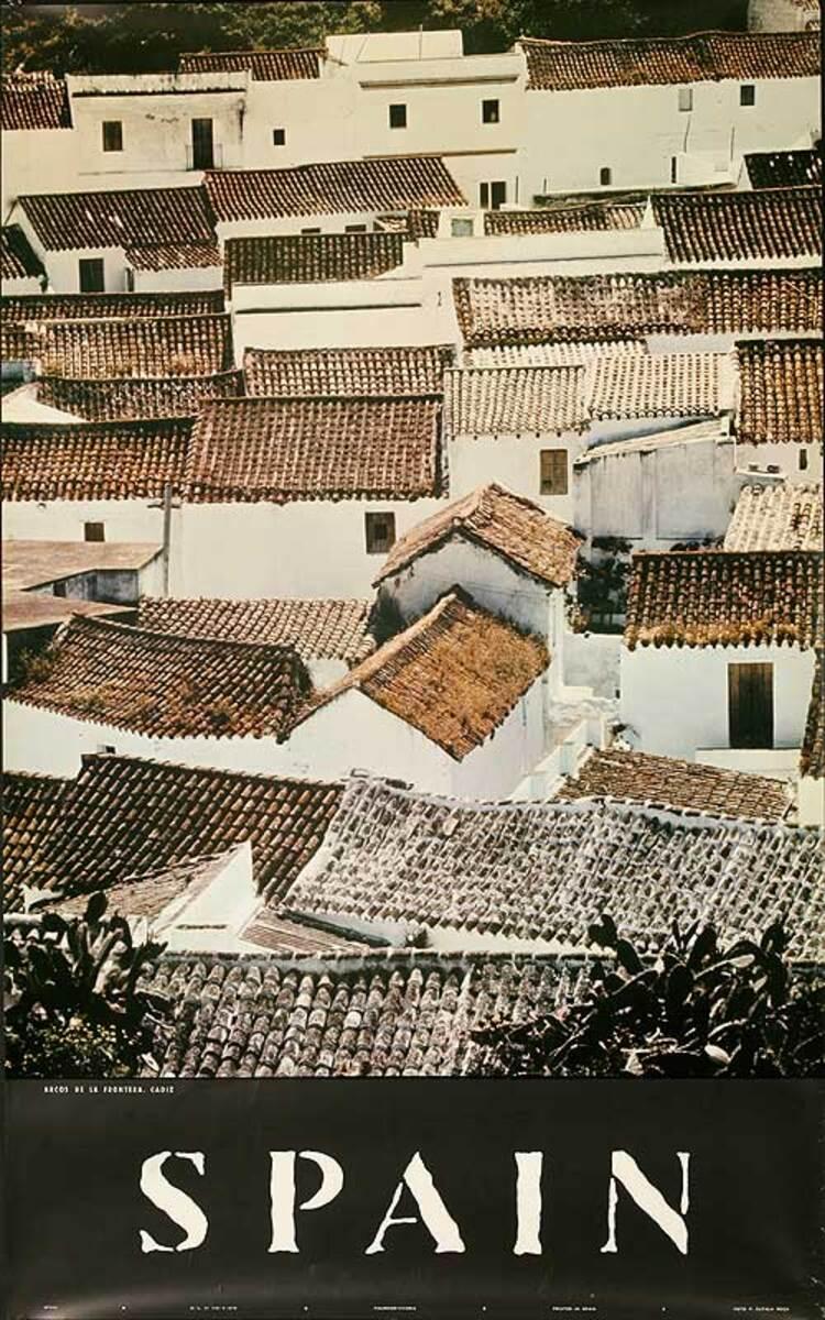 Spain Original Spanish Travel Poster Rooftops
