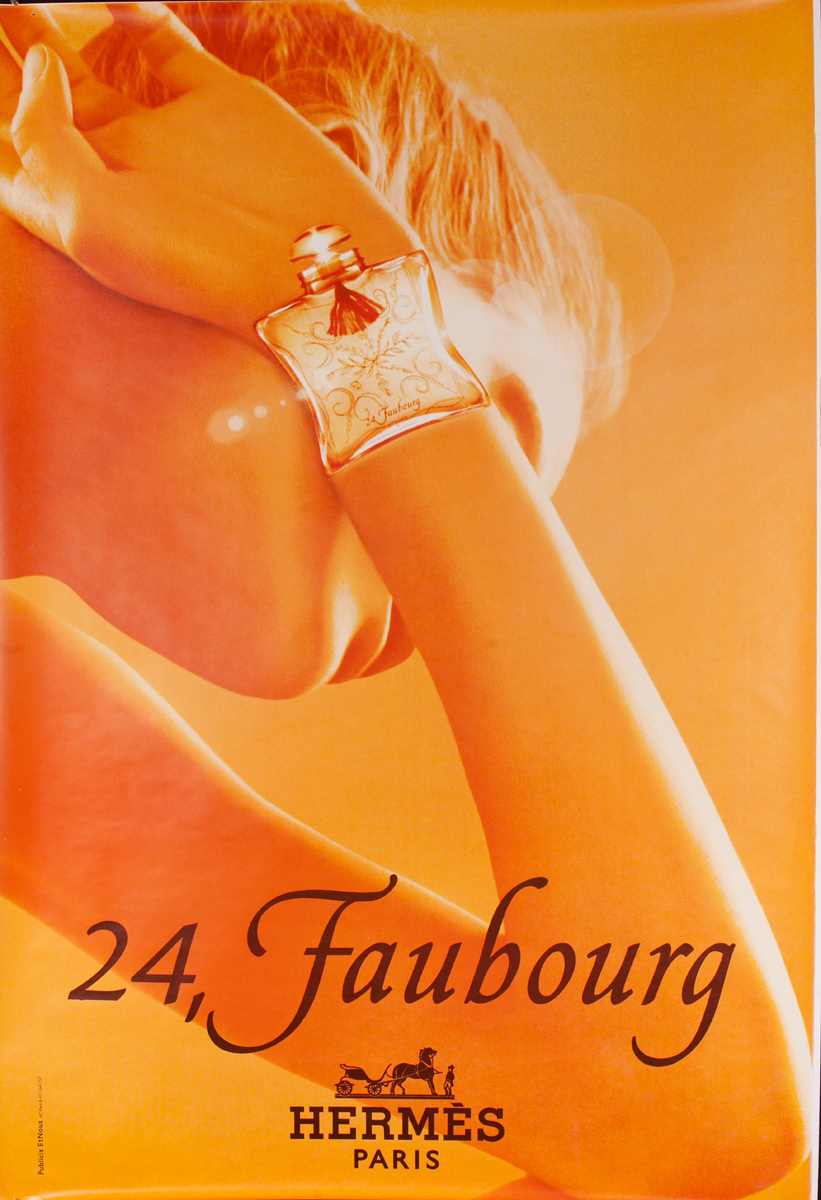 24, Faubourg Original Hermes French Advertising Poster