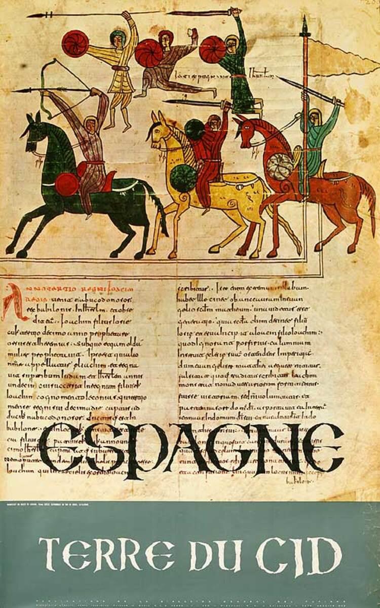 Espagne Terra du Cid  Original Spanish Travel Poster
