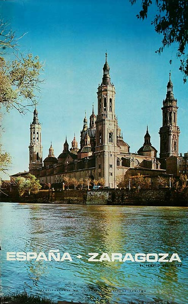 Espana Zaragoza  Original Spanish Travel Poster