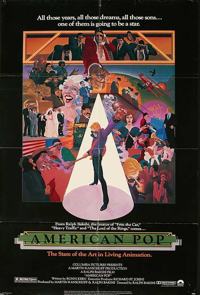 American Pop Original American 1 Sheet Movie Poster