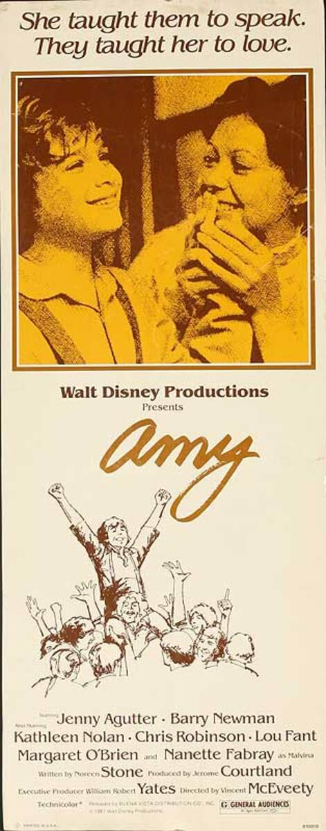 Amy Original American Insert Movie Poster