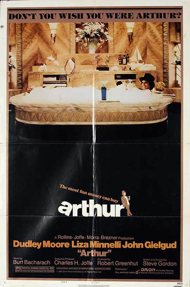 Arthur Original American One Sheet Movie Poster