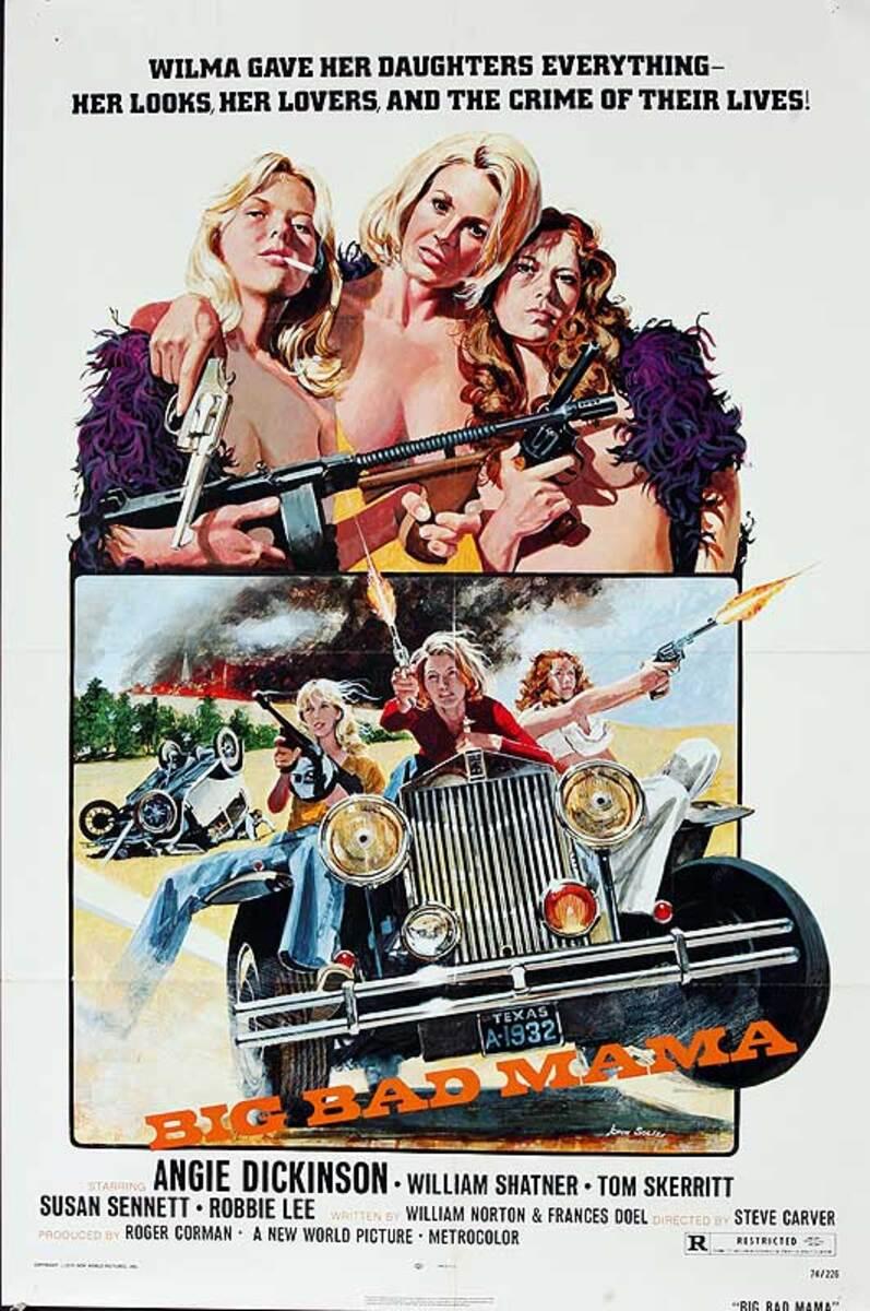 Big Bad Mama Original American One Sheet Movie Poster