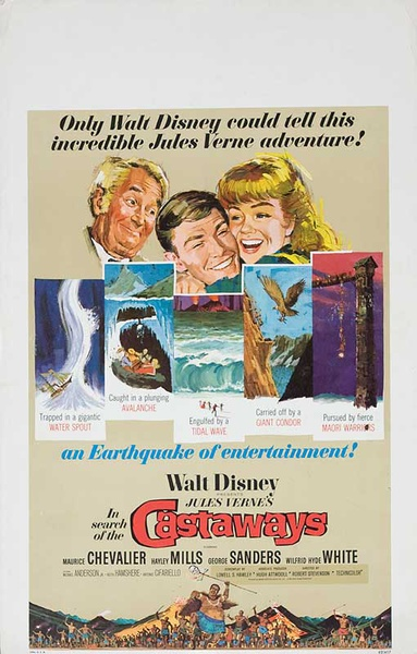 In Search of the Castaways Original American Movie Poster