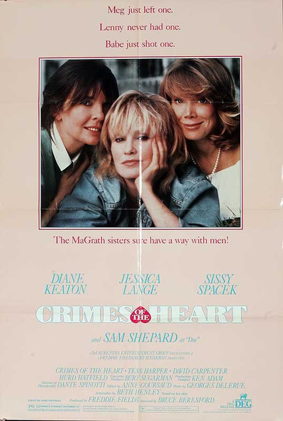 Crimes of the Heart Original American One Sheet Movie Poster