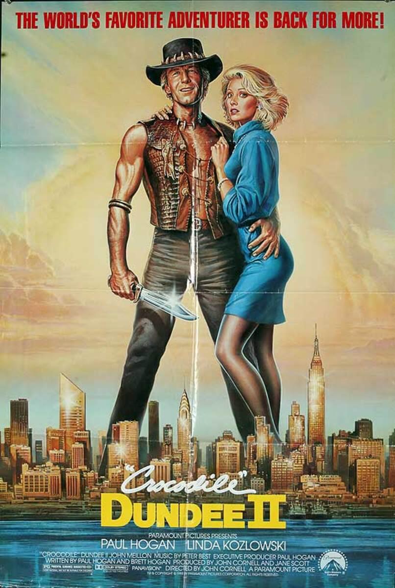 Crocodile Dundee 2 Original American One Sheet Movie Poster