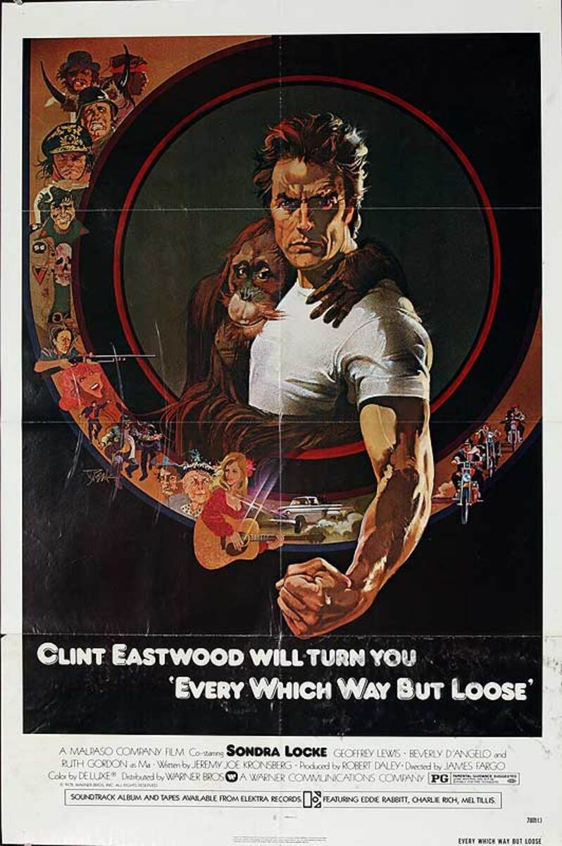 Every Which Way but Loose Original American One Sheet Movie Poster