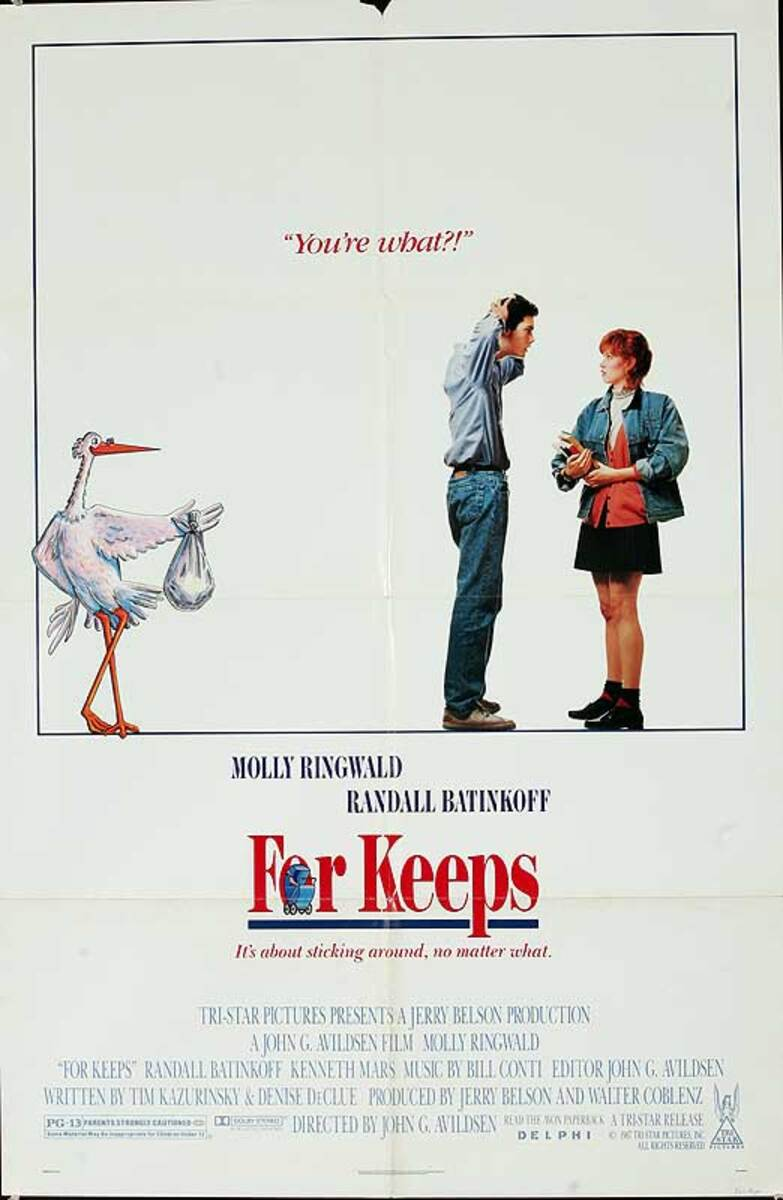 For Keeps, Maybe Baby Original American One Sheet Movie Poster