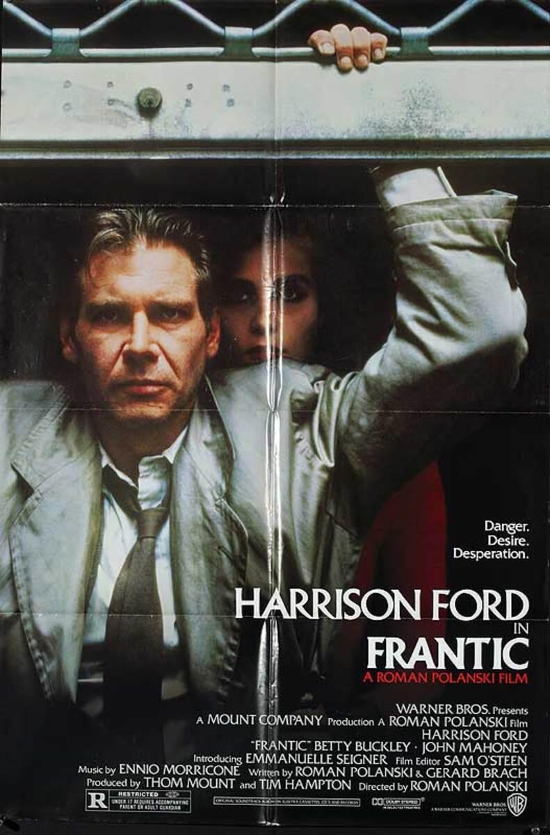 Frantic Original American One Sheet Movie Poster