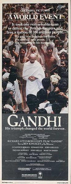 Ghandi Original US Insert Movie Poster