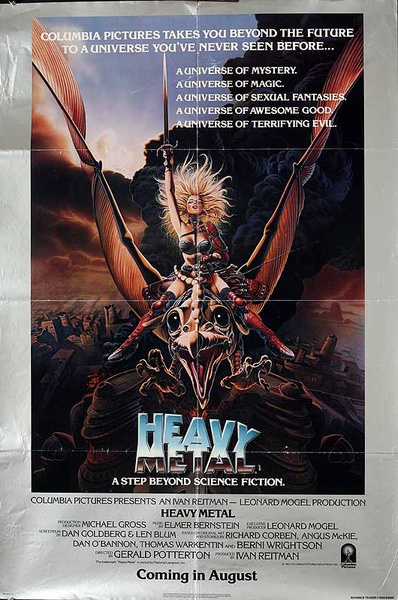 Heavy Metal Original American One Sheet Movie Poster