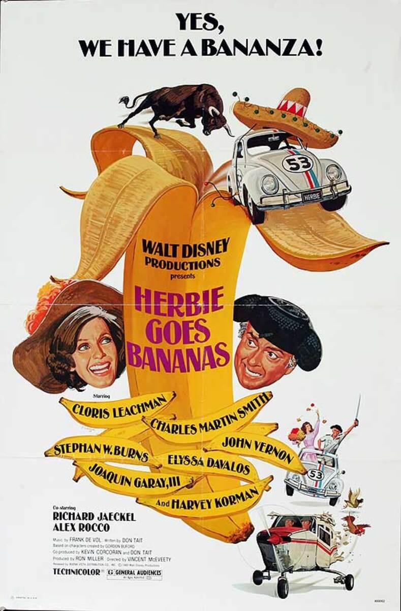 Herbie Goes Bananas Original American One Sheet Movie Poster