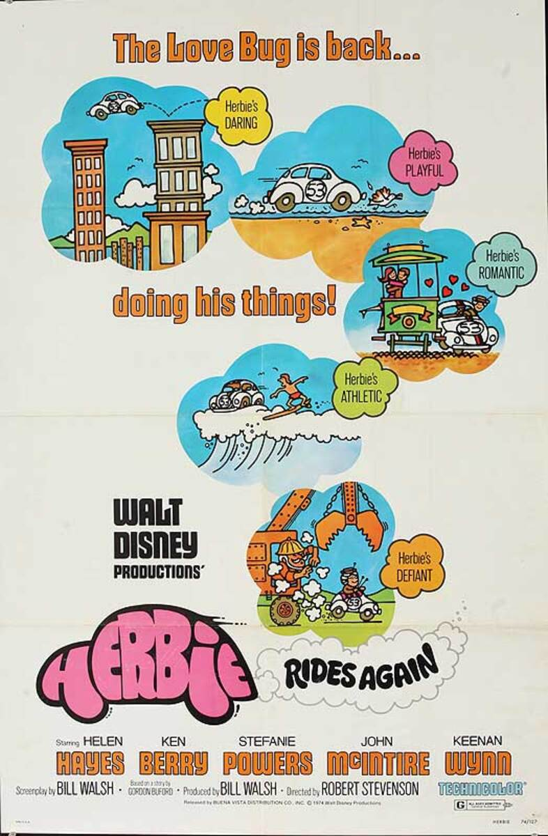 Herbie Rides Again Original American One Sheet Movie Poster