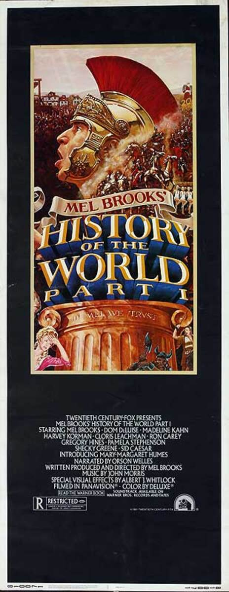 The History of the World Part I, Original Vintage Insert Movie Poster