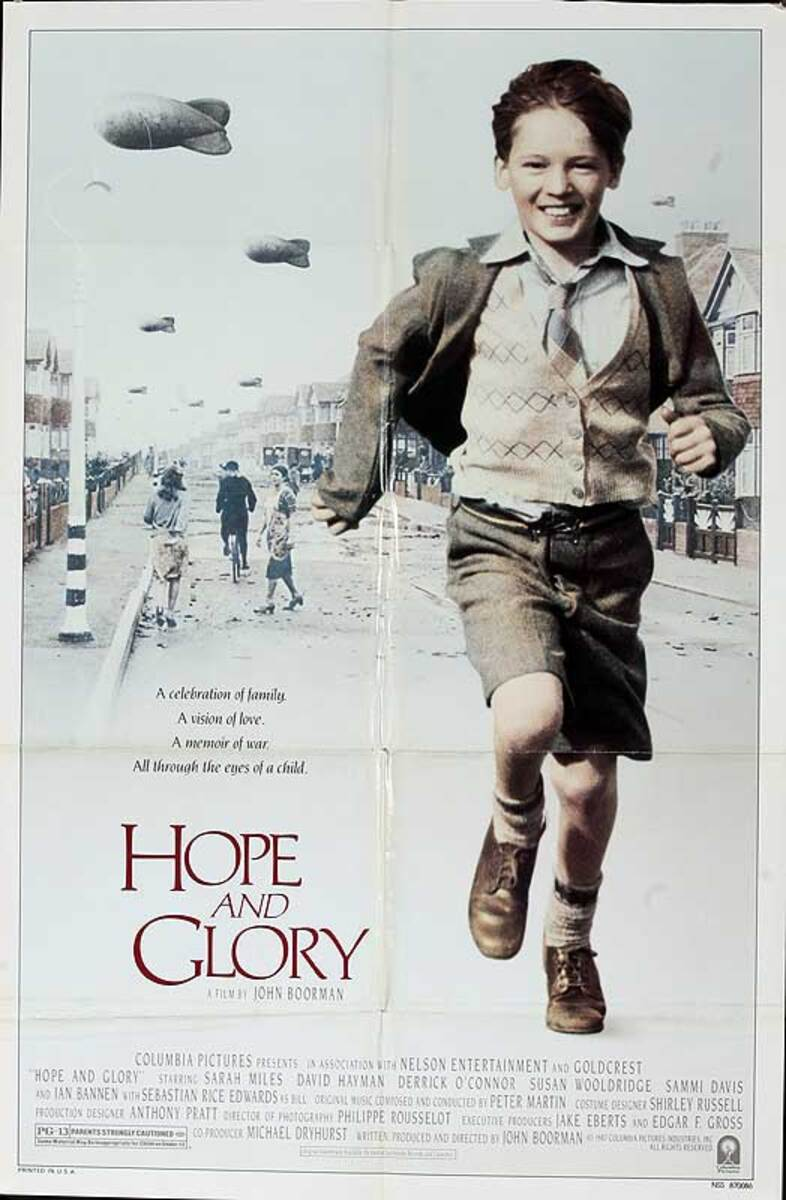 Hope and Glory Original American One Sheet Movie Poster
