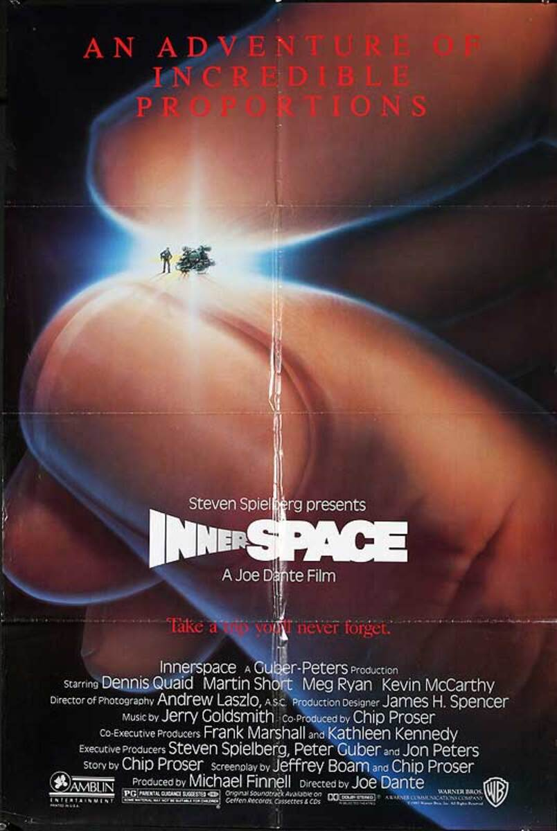 Inner Space Original American One Sheet Movie Poster