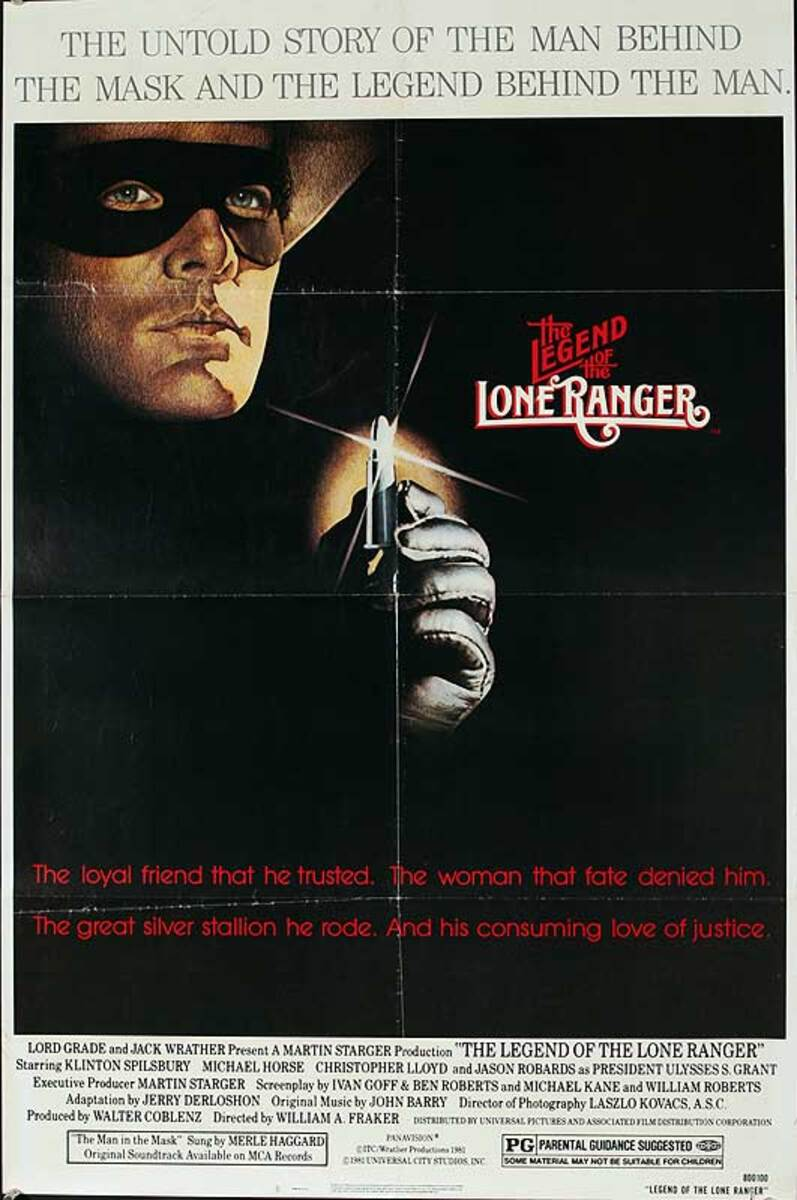 The Legend of Lone Ranger Original American One Sheet Movie Poster