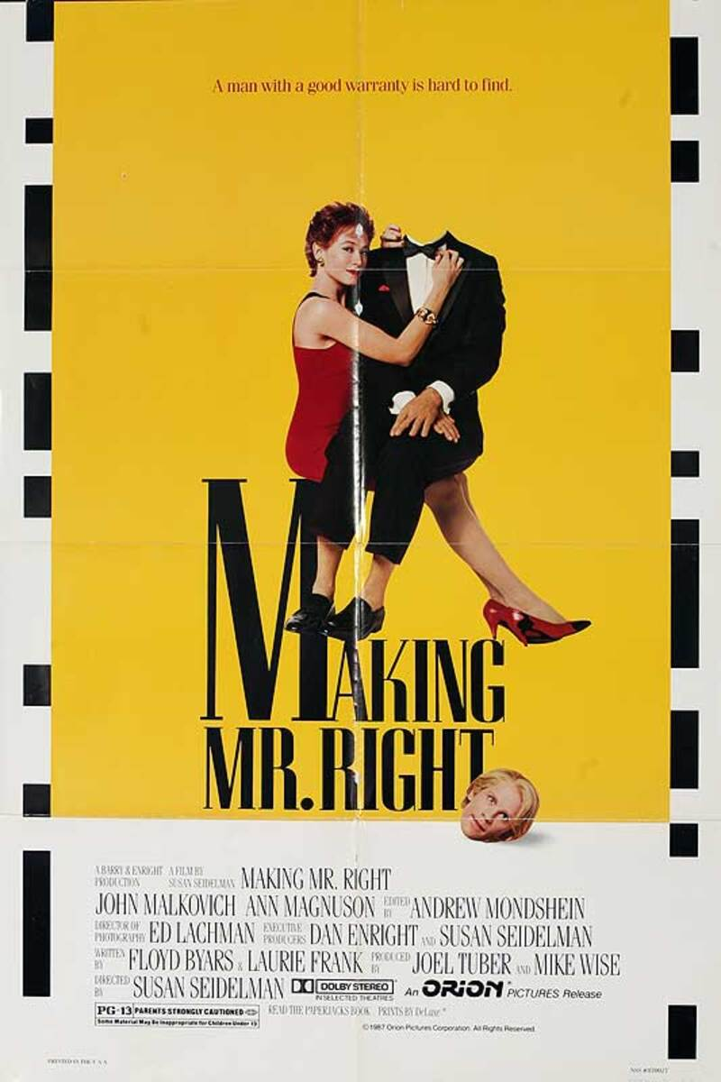 Making Mr. Right Original American One Sheet Movie Poster