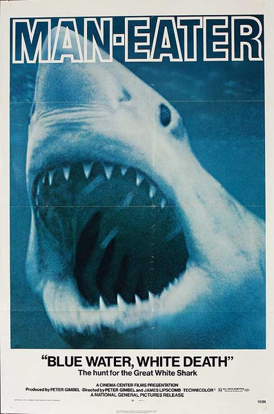 Man Eater, Blue Water White Death Original American 1 Sheet Movie Poster