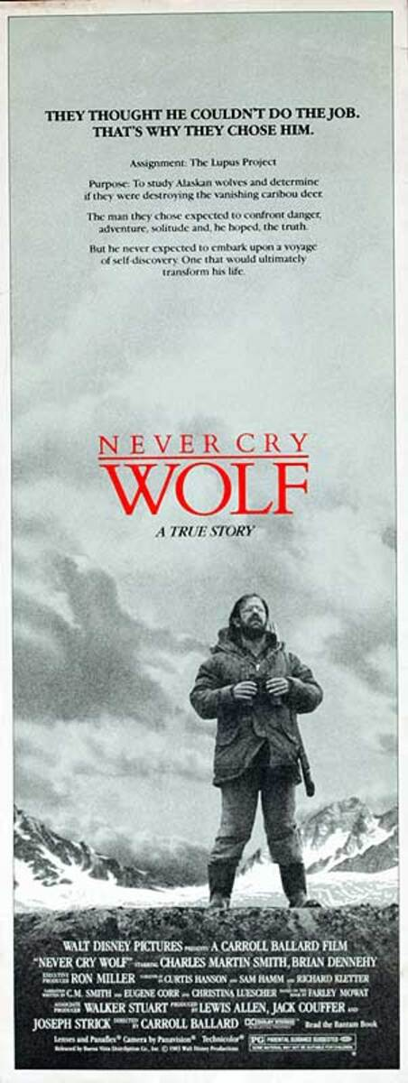 Never Cry Wolf Original American Insert Movie Poster