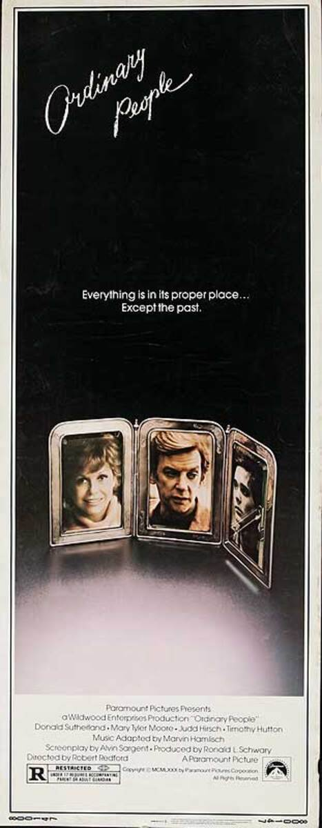 Ordinary People Original American Insert Movie Poster