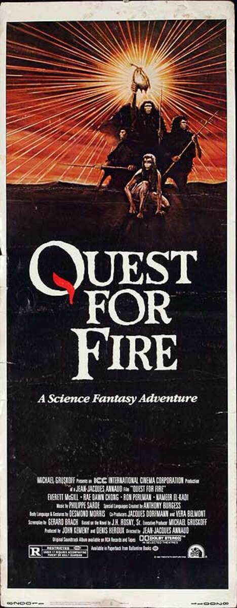 Quest for Fire Original American Insert Movie Poster