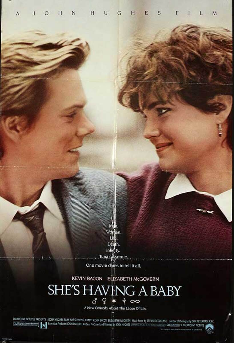 She's Having a Baby Original American One Sheet Movie Poster