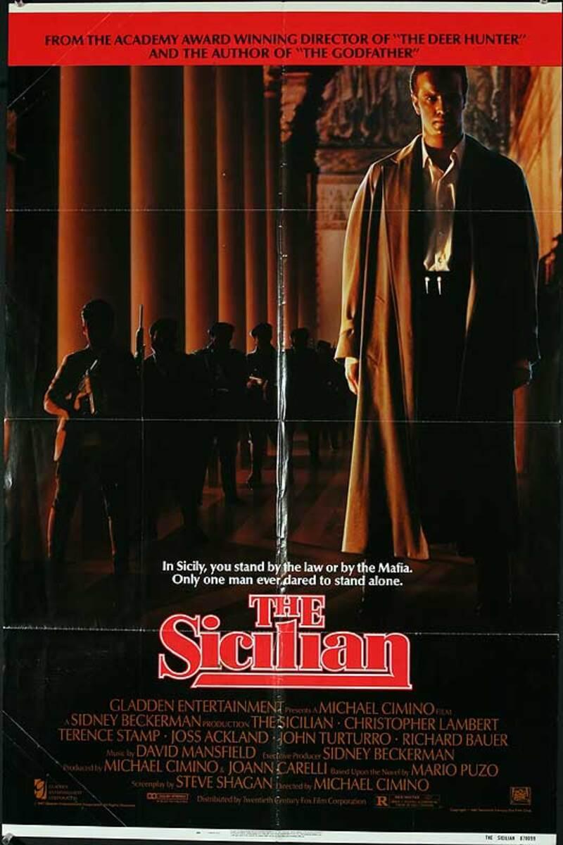 The Sicilian Original American One Sheet Movie Poster