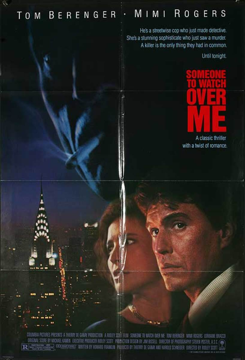 Someone to Watch Over Me Original American One Sheet Movie Poster